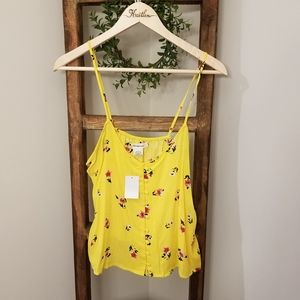 Passport Tops - Nwt Yellow floral cropped Tank from papaya
